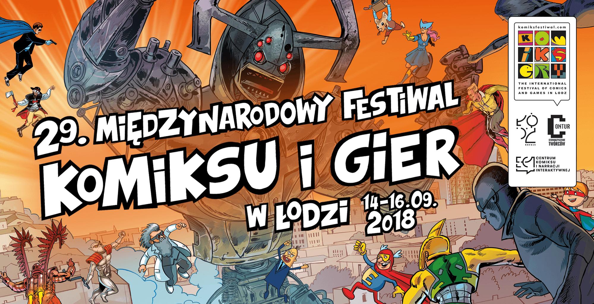 29. Międzynarodowy Festiwal Komiksu i Gier zaprasza:Wieczór Popkulturalny i gala Misie 2018 w EC1
