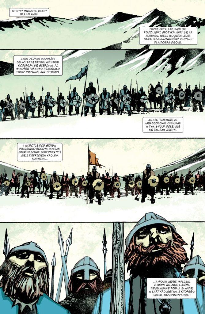 Ludzie Północy. Saga Islandzka - przykładowa plansza