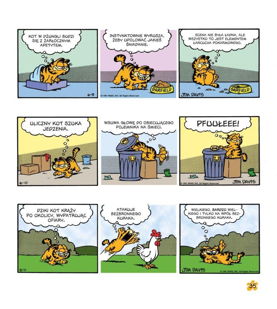 Garfield. Tłusty koci trójpak. Tom 2 - plansza przykładowa