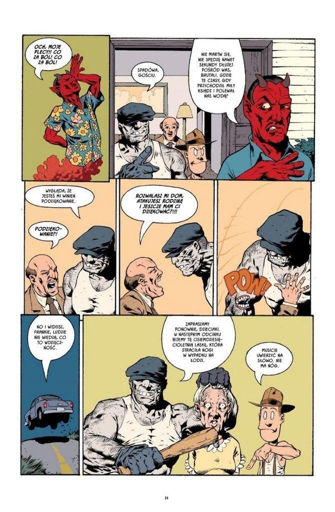 """Strona z komiksu """"The Goon"""""""