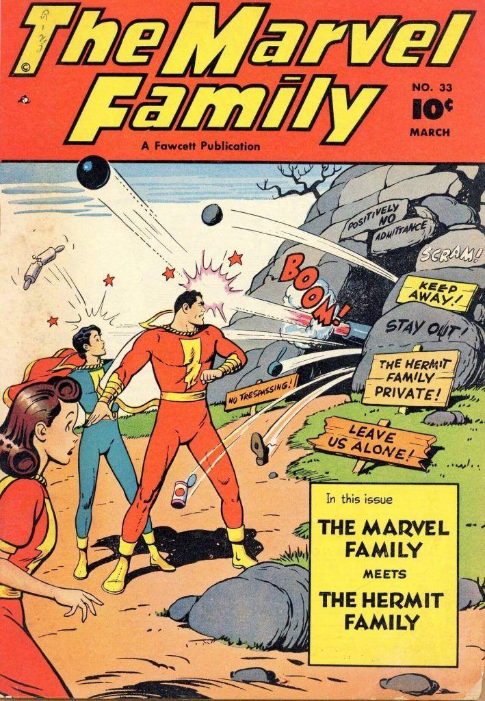 Marvel Family - rys. C.C. Beck