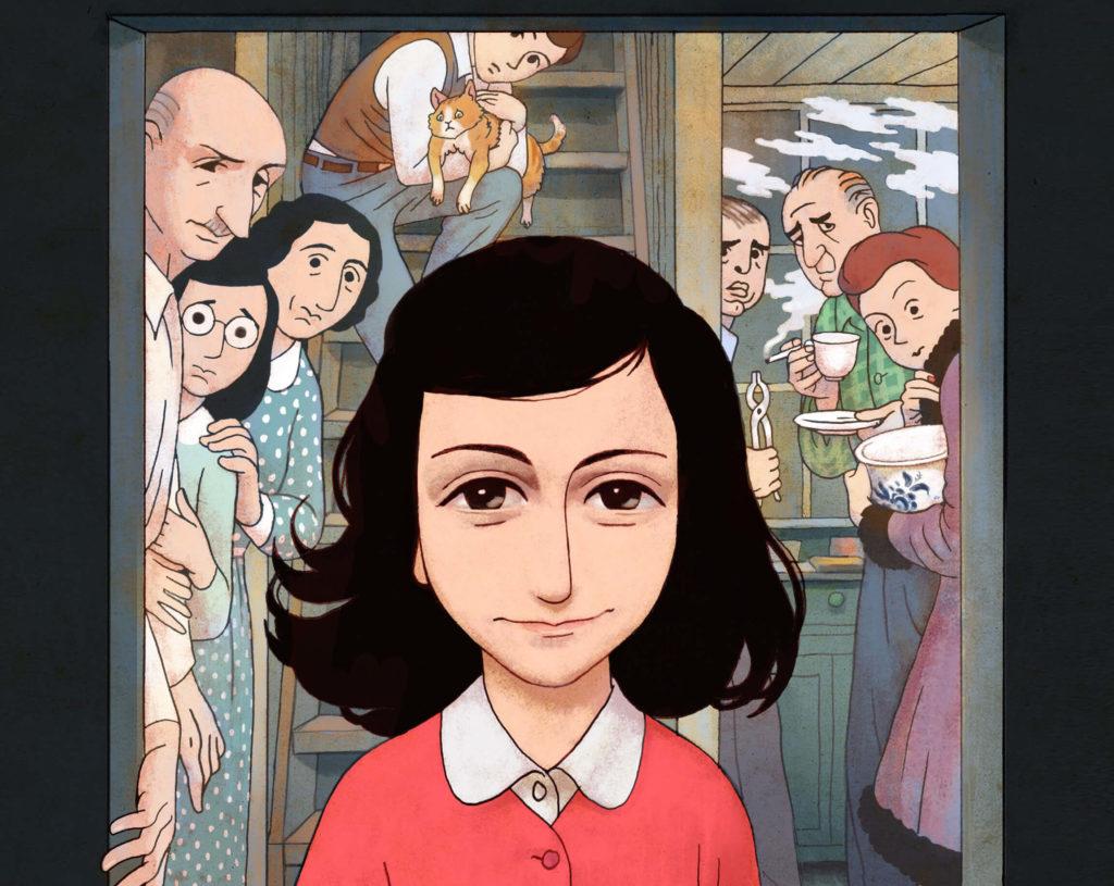 Dziennik Anne Frank - powieść graficzna - okładka