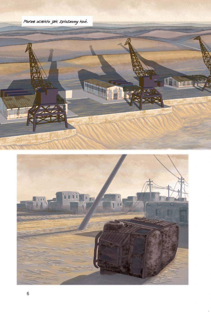 Morze aralskie - przykładowa plansza