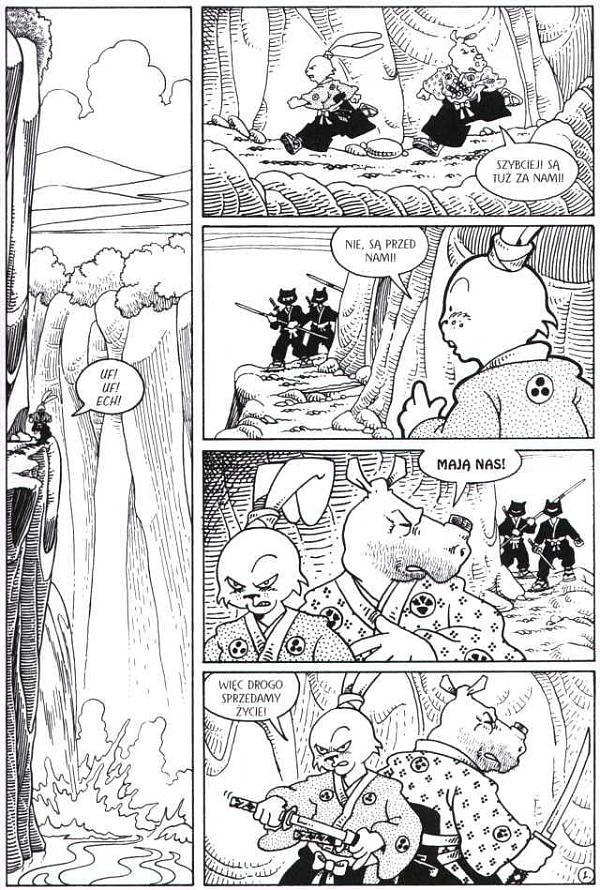 Usagi Yojimbo Saga - księga 1 - przykładowa plansza