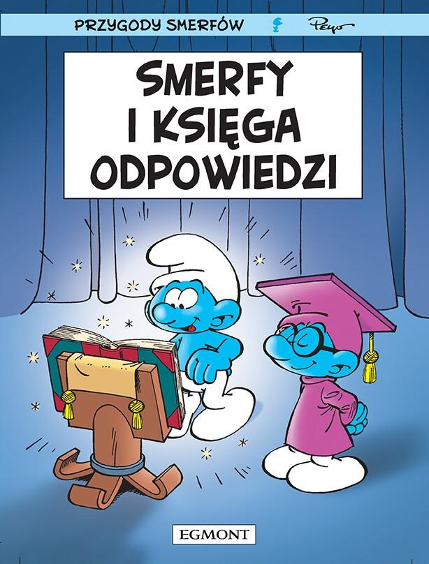 Smerfy Komiks. Smerfy i księga odpowiedzi, tom 26 - okładka