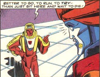 """Tfwiki.net/ From The Transformers (Marvel UK) #184, """"Space Pirates!"""" (Part 3), page 8, panel 5."""