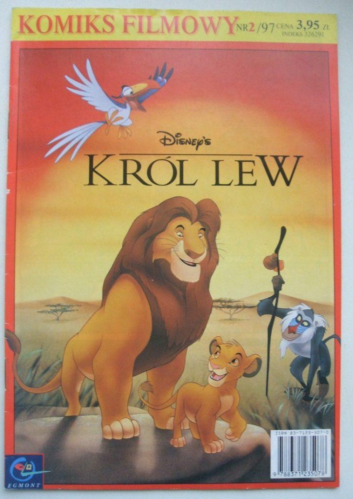 """Król Lew"" - okładka komiksu"