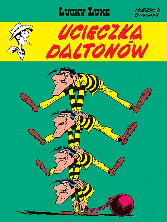 Lucky Luke. Ucieczka Daltonów, tom 15 - okładka