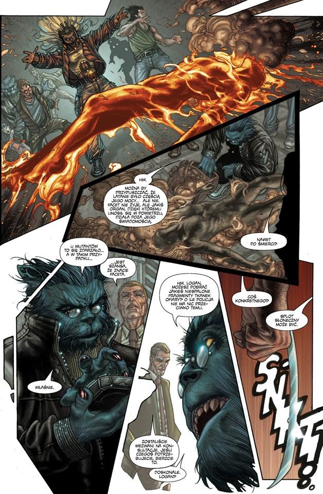 """""""Astonishing X-Men 3"""" - przykładowa strona"""