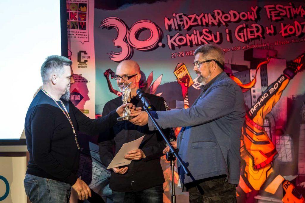 Timof Comics z nagrodąNajlepszy Wydawca Roku, fot. Dariusz Kulesza