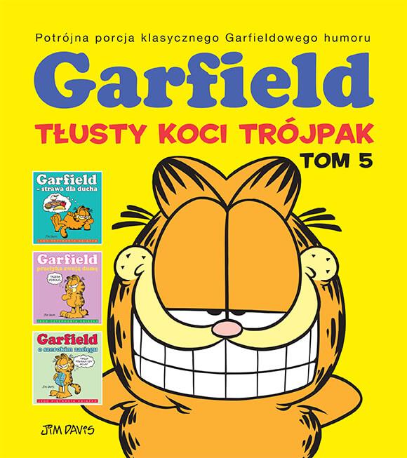 Garfield. Tłusty koci trójpak, tom 5 - okładka