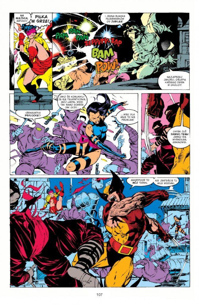 """""""X-Men. Jim Lee"""" - przykładowa strona"""