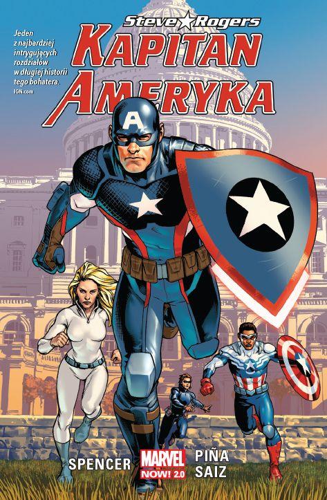 Kapitan Ameryka: Steve Rogers, tom 1 - okładka
