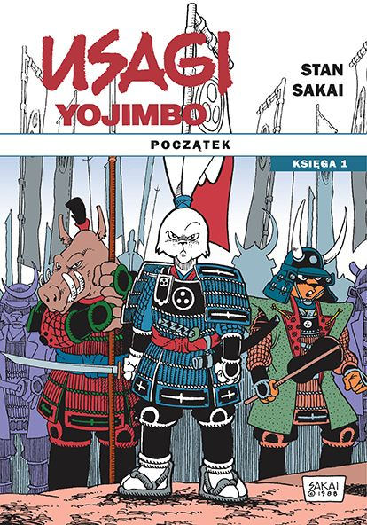 Usagi Yojimbo: Początek, księga 1 - okładka