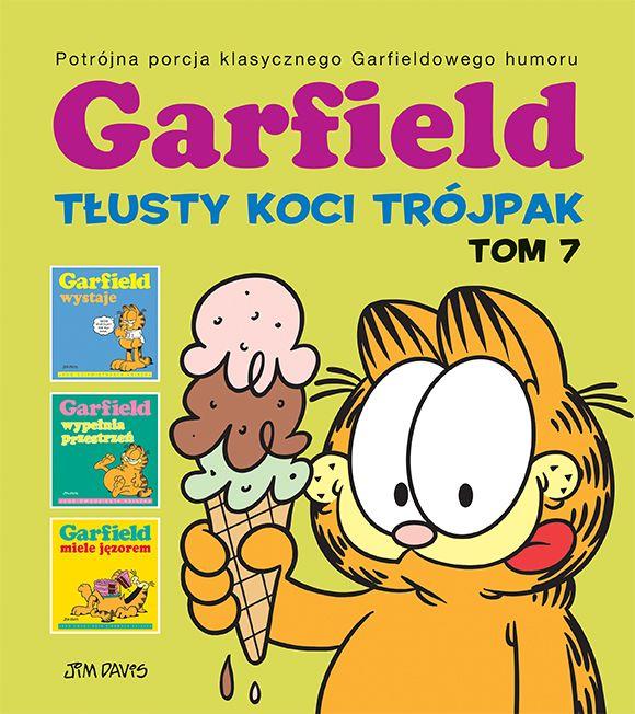 Garfield. Tłusty koci trójpak, tom 7 - okładka