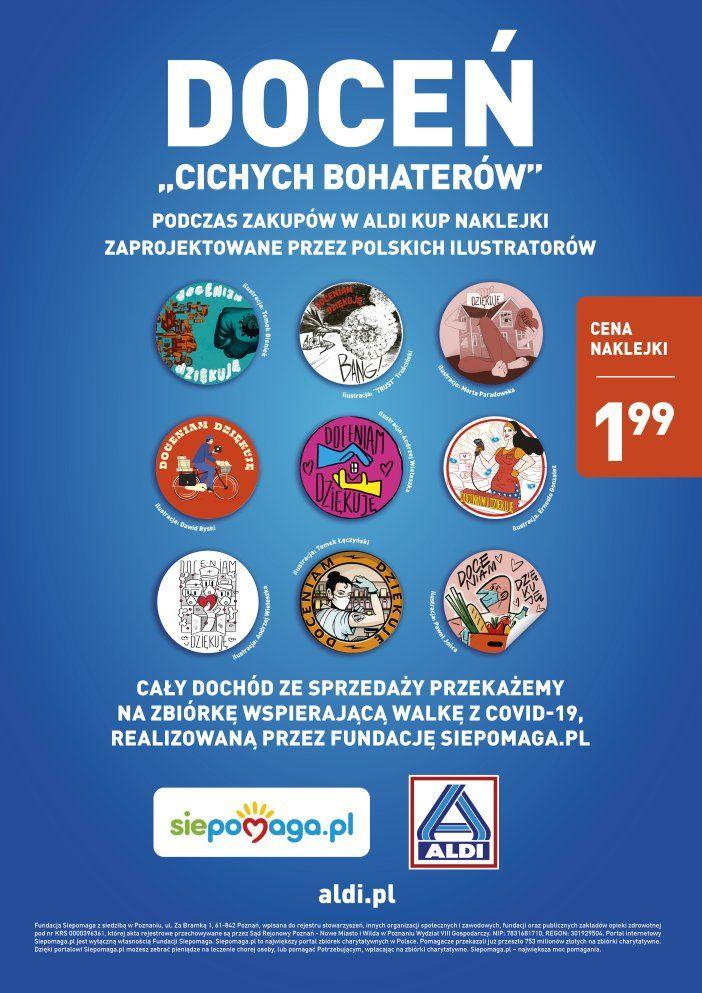 Akcja charytatywna z udziałem polskich rysowników - plakat