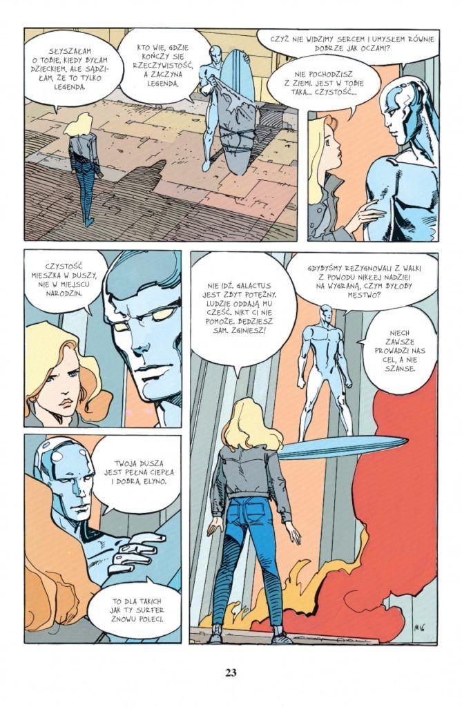 """""""Silver Surfer: Przypowieści"""" - przykładowa strona"""