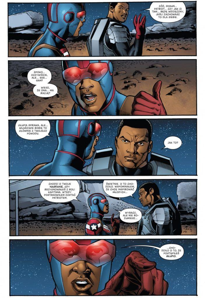 """""""Kapitan Ameryka. Steve Rogers 2"""" - przykładowa strona"""
