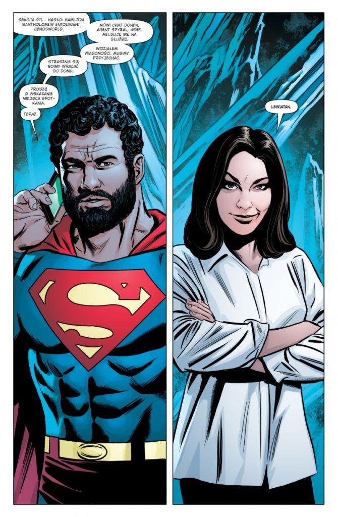 """""""Superman. Action Comics 2"""" - przykładowa strona"""