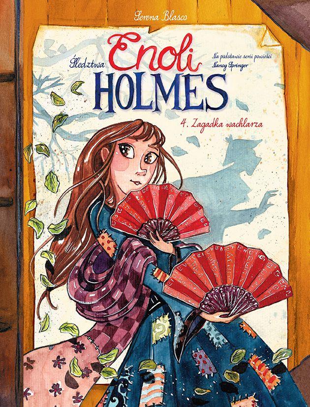 Śledztwa Enoli Holmes, tom 4 - okładka