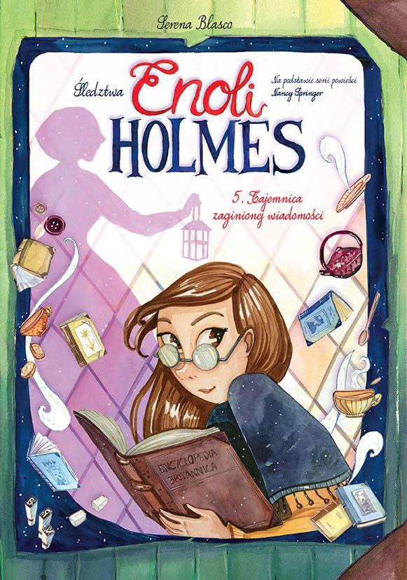 Śledztwa Enoli Holmes, tom 5 - okładka