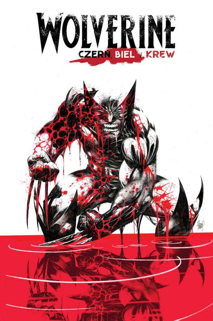 """""""Wolverine. Czerń, biel i krew"""" - okładka"""