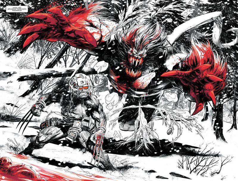 """""""Wolverine. Czerń, biel i krew"""" - przykładowa strona"""