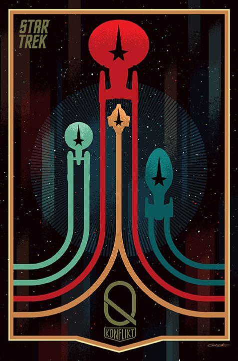 Star Trek. Konflikt Q - okładka